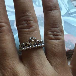 Pandora My Princess Ring size 6 silver NWOT